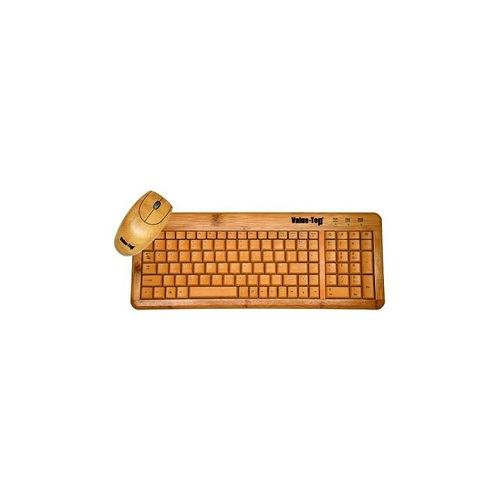 Value-Top W9841+W3018 Eco-Bamboo Mouse And Keyboard Combo