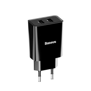 Baseus Speed Mini Dual U Charger 10.5W(EU) Black-Best Charger of Electrovibe