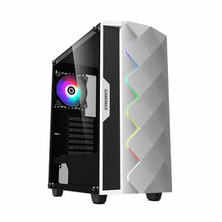 Gamemax White Diamond A361 Temperd Glass ATX Gaming Case- White : Best Casing of Electrovibe