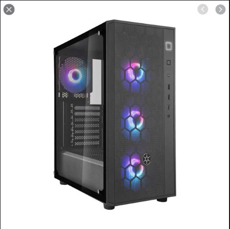 SST-FAB1B-PRO With 4 Pcs ARGB Rainbow Fan & ARGB Controller, Tempered glass- Best CPu Casing Of Electrovibe